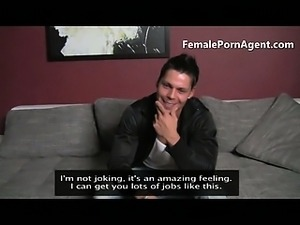 Hunk fucked by female casting agent