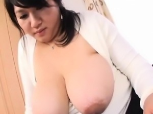 Cute japanese having her big tits sucked