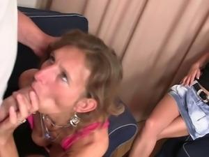 Horny older bitch fucking her daughter's boyfriend