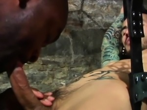 Muscular ebony jocks fucking in sexswing