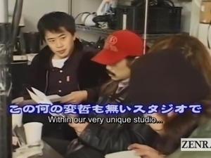 Subtitled bizarre Japanese pubic hair stylist at work