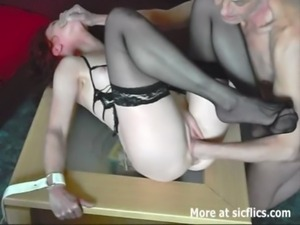 Amateur housewife fist fucked in bondage free
