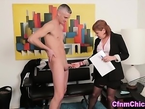 Mature domina humiliates