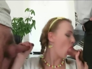 Double anal in the office!