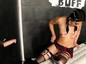 Clit rubbing glam slut