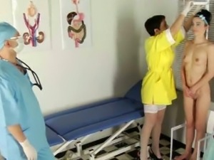 Playful teen goes through a kinky examination