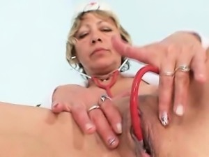 Uniform Housewife Vanda lousy stethoscope insertion