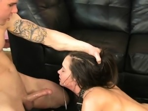Restrained Brunette Getting Her Face Wrecked And Puking