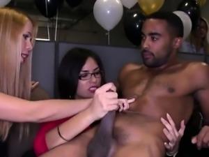 Hot Secretaries Go Crazy For Massive Black Dick