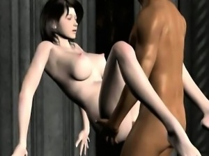 Brunette 3D hentai babe gets fucked