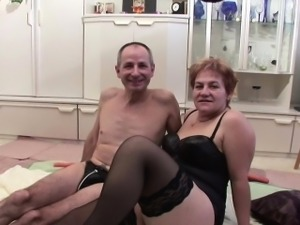 Grandma and grandpa in first time casting fuck for money