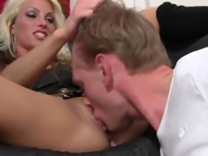 blonde babe for the first time on video