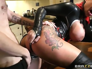 Kerry Louise satisfies her sexual desires with Danny Ds cock in her mouth