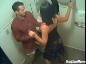 Secret Blowjob In The Toilet Caught Live On CCTV free