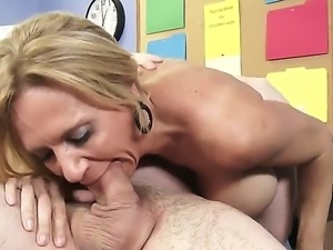 Brooke Tyler is a dangerously horny busty mature woman that gets her cunt...
