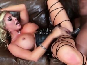 Blonde Samantha Saint interracial sex