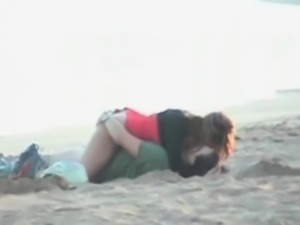 Horny couple thinks that they are alone part3