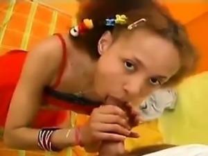 Cute Ebony Teen Being Fucked Classic