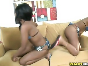 Cocoa July Jones and her hard dicked fuck buddy Voodoo are in the mood for...