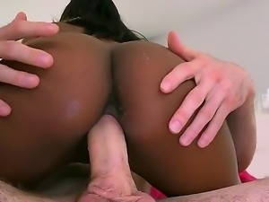 Adriana Malao is a sexe black babe with a huge, rounded and fat ass. She...
