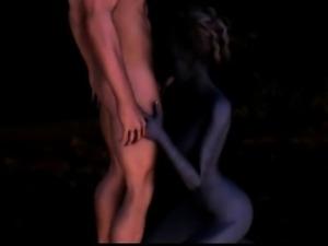 3D Elven Witch Sucks Cock!