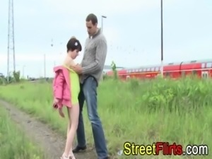 Amateur couple outdoor sex free
