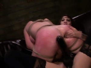 FetishNetwork Autumn Kline lesbian domination strapon sex