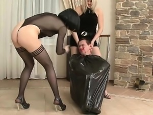 Freaky Russian Bitches dominating guy