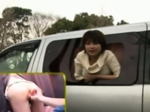 Publicsex loving nippon fucked in a car