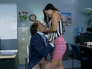 Asa Akira is an Oriental milf, eager to get banged in her own office...