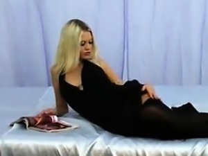 Sexy Blonde Russian Chick With A Dildo