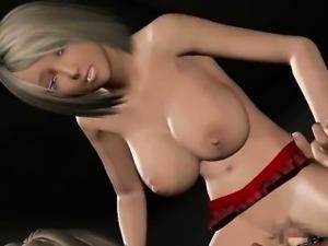 Big titted 3D anime slut gets banged