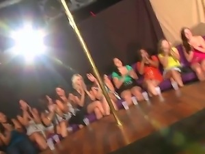 These sexy girls like to party hard with the handsome male dancers they had...