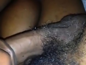 Big Black Woman Sucking Her Mans Cock