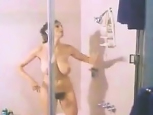 Hairy Woman Taking A Shower Classic