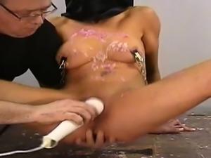 Cute girlfriend cum between tits