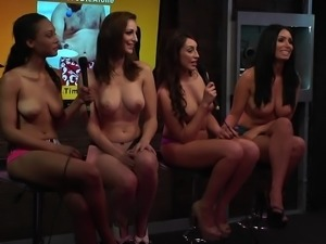 sexy chicks in the studio showing off their bodies @ season 1 ep. 664