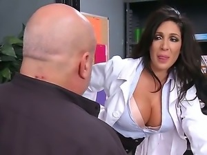 Emily B is a super sexy pharmacist with perfect huge tits. This lovely long...