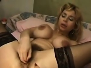 Hairy Blonde Slut Fists And Fingers