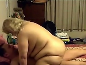 Large Grandmother And Her Man Have Sex
