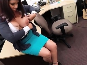 Massive boobs housewife gets banged for her husbands bail