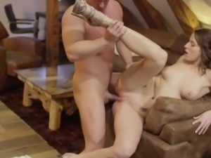 Classy tattooed babe gets anally fucked
