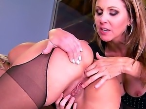 Julia ann cheats on her husband. She has her lesbian friend come over to her...