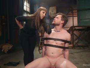 slutty kara tortures cock