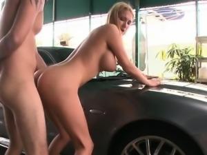 Busty wife brutal gang bang