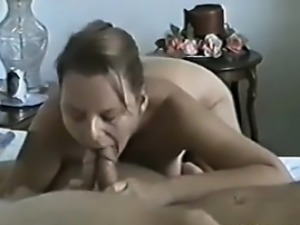 my wife happy with 2 dicks in her mouth