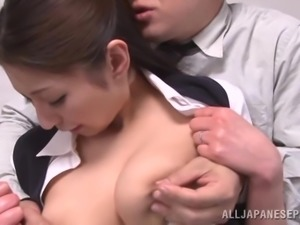 japanese threesome in the office