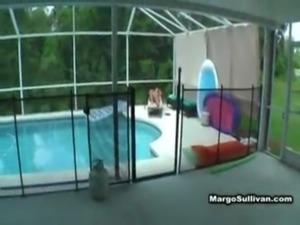 son rubs n fucks mom by pool free