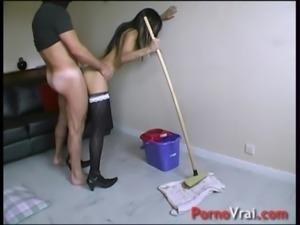 La femme de menage se fait culbuter !! French amateur free