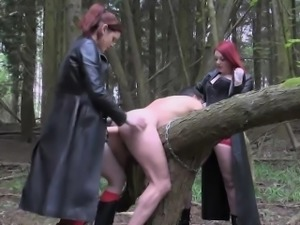 English femdoms pegging and humiliating sub